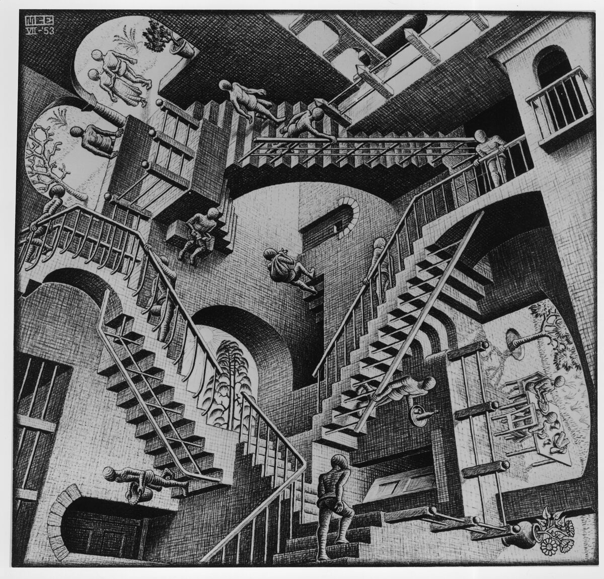 M.C. Escher, Relativity. ©2017 The M.C. Escher Company, The Netherlands.