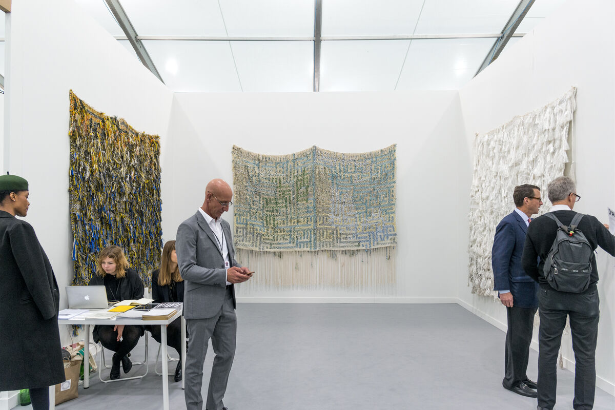 Installation view of blank projects's booth at Frieze New York, 2016. Photo by Adam Reich for Artsy.