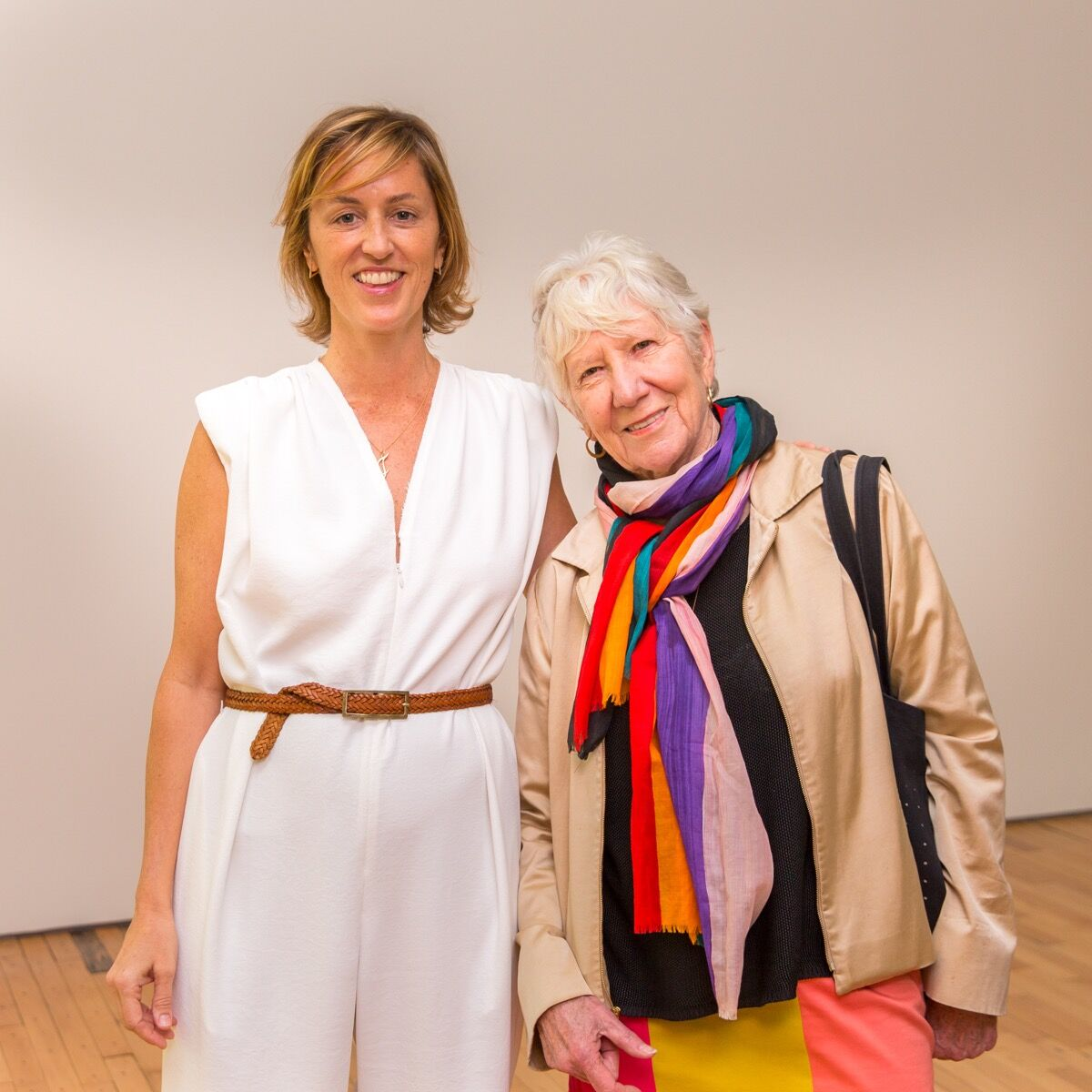 Mary with Jessica Morgan, director of Dia Art Foundation, at the Dia:Beacon Spring Benefit, 2017.