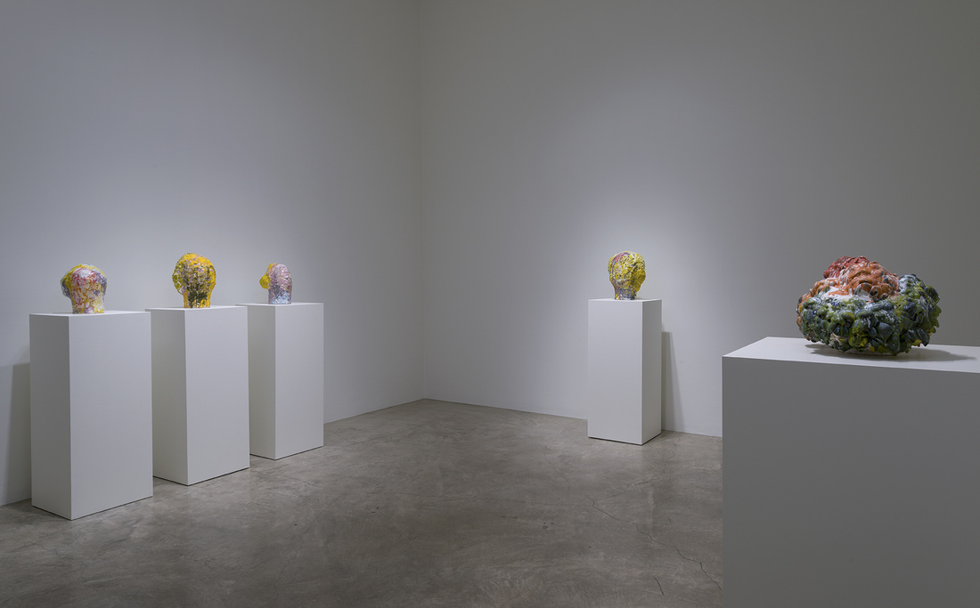 "Installation view of ""Matt Wedel: Peaceable Fruit"" at L.A. Louver, Los Angeles. Courtesy of L.A. Louver and the artist."