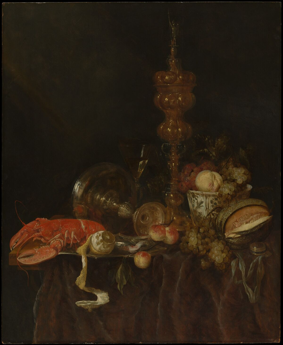 Abraham van Beyeren, Still Life with Lobster and Fruit, early 1650s. Courtesy of the Metropolitan Museum of Art.
