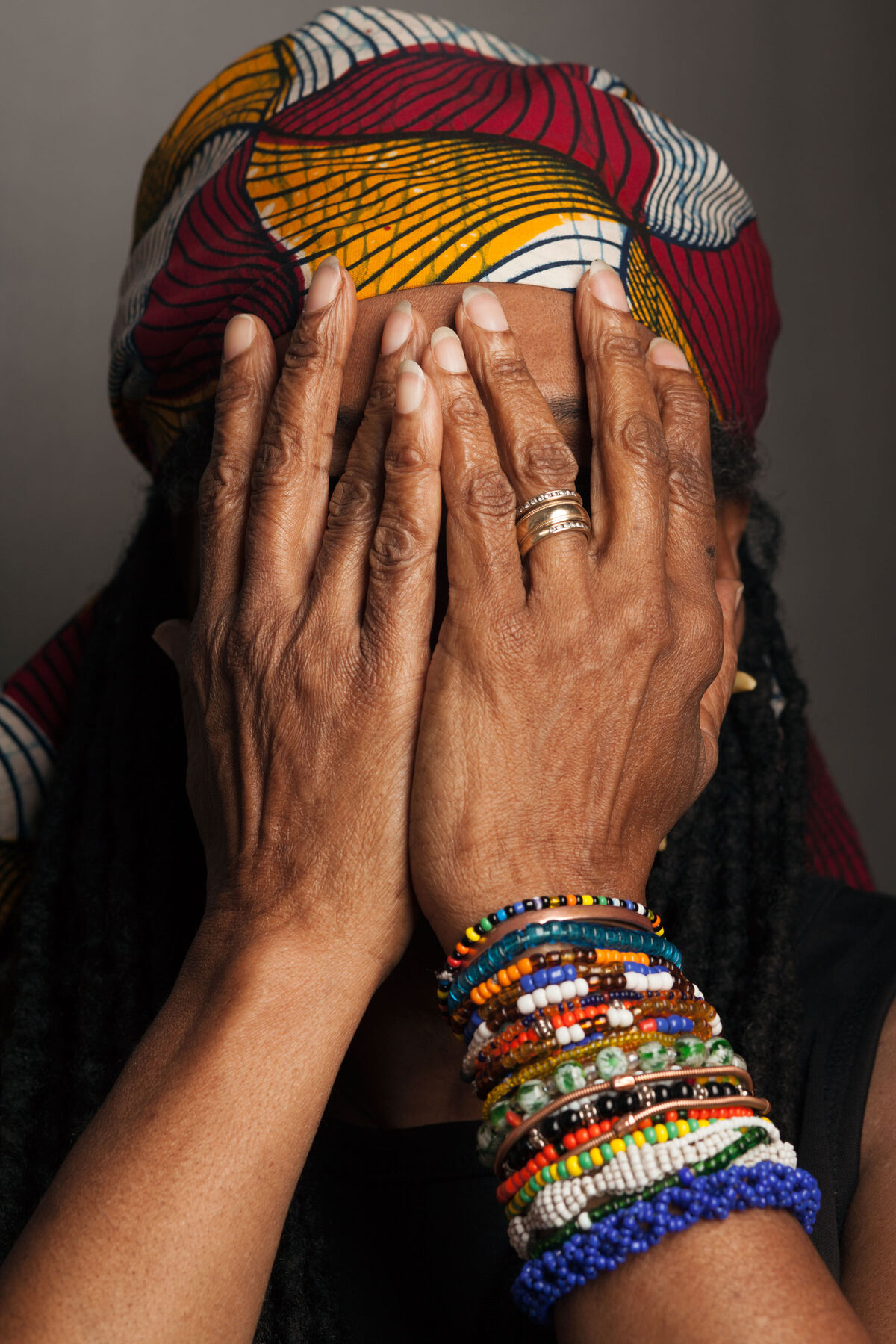 As the founder of the percussion ensemble Women of the Calabash, Madeleine Yayodele Nelson performed for eminent world leaders, including Barack Obama, in a quest to popularize music from Africa and the African diaspora. Nelson passed away last September at age 69; she joined Westbeth in 1982. Photo by Frankie Alduino.