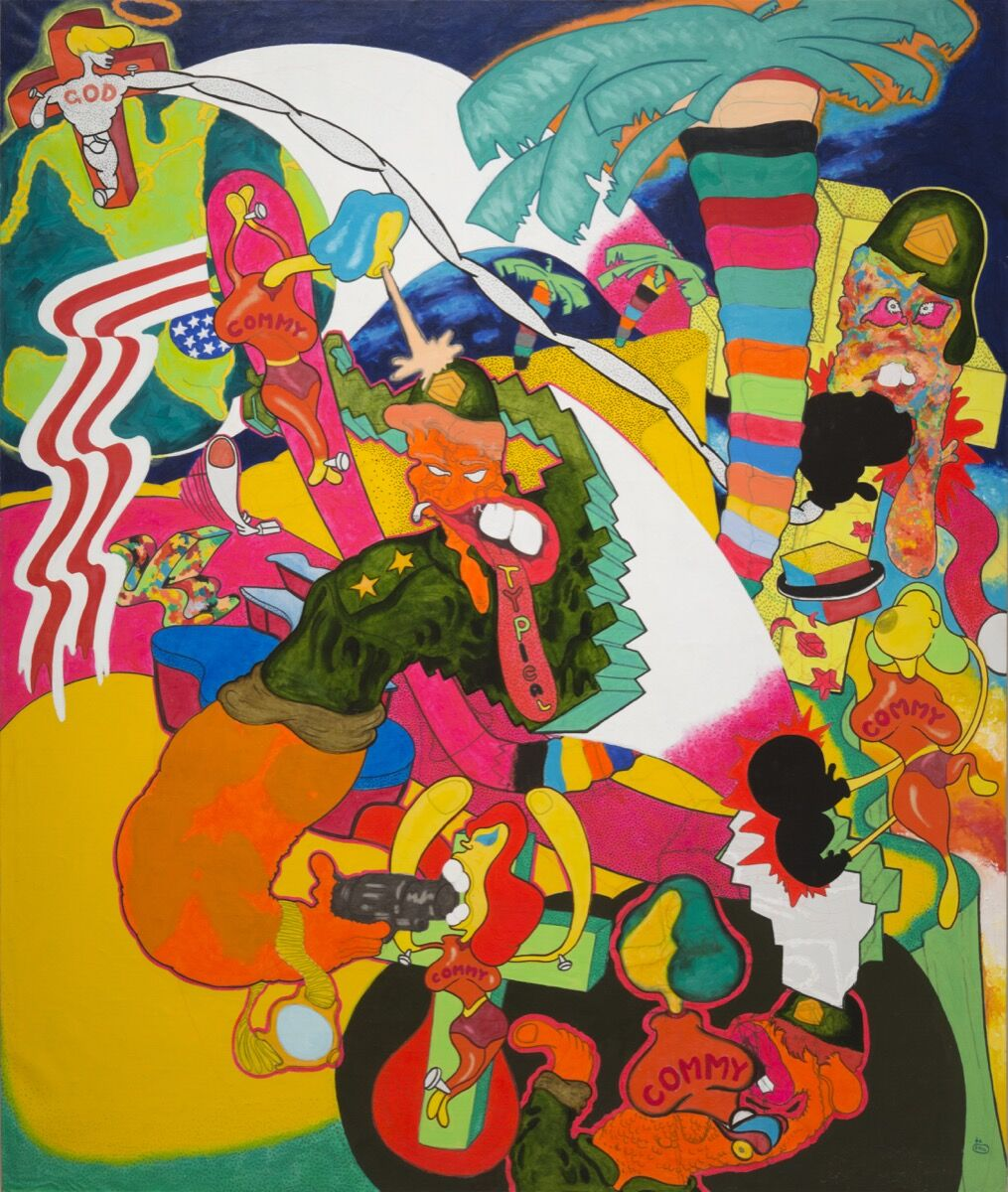 """Peter Saul, """"Vietnam,"""" 1966. © Peter Saul. Courtesy of Mary Boone Gallery, New York."""