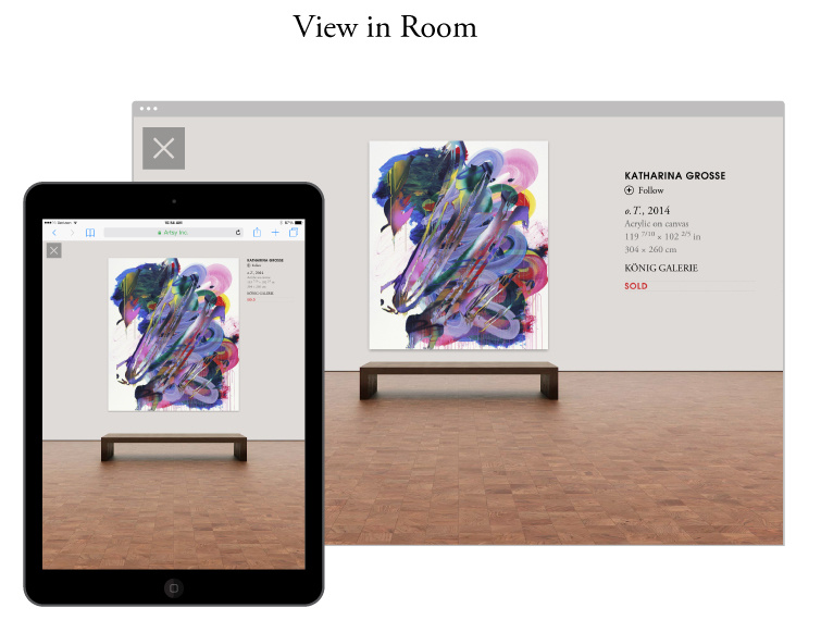 """Artsy's Folio""""View in Room"""" Feature"""