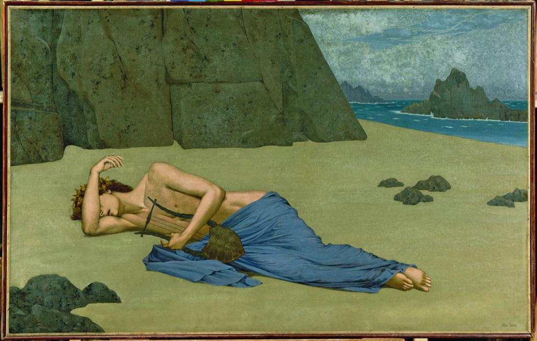 Alexandre Séon, The Lament of Orpheus (Lamentation d'Orphée), ca. 1896. Musée d'Orsay, Paris. Gift of Fleury Gromollard, nephew and heir of the artist, 1917 Photo: © Solomon R. Guggenheim Foundation.