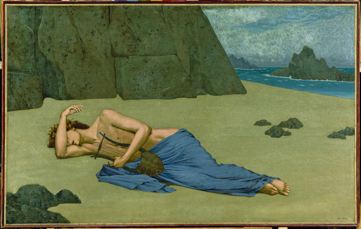 Alexandre Séon, The Lament of Orpheus (Lamentation d'Orphée), ca. 1896. Musée d'Orsay, Paris. Gift of Fleury Gromollard, nephew and heir of the artist, 1917 Photo: © Solomon R. Guggenheim Foundation.