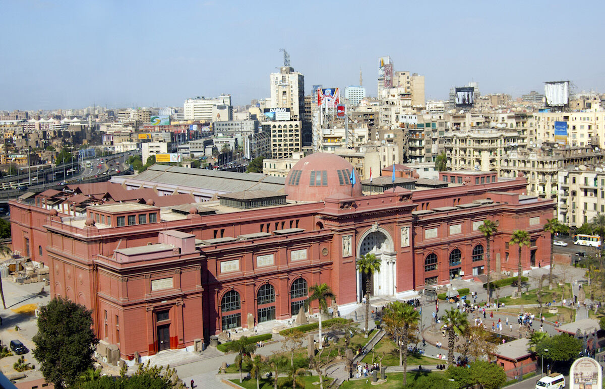 The Egyptian Museum in Cairo. Photo by Bs0u10e01, via Wikimedia Commons.