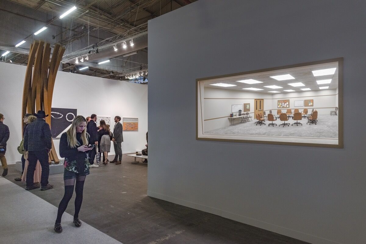 Installation view of Paul Kasmin Gallery's booth at The Armory Show, 2018. Photo by Adam Reich for Artsy.