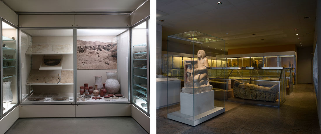 Left: Amarna and the Late New Kingdom Objects Gallery. Right: Objects from the Late New Kingdom, 1st Century A.D. Images: © The Metropolitan Museum of Art, New York.