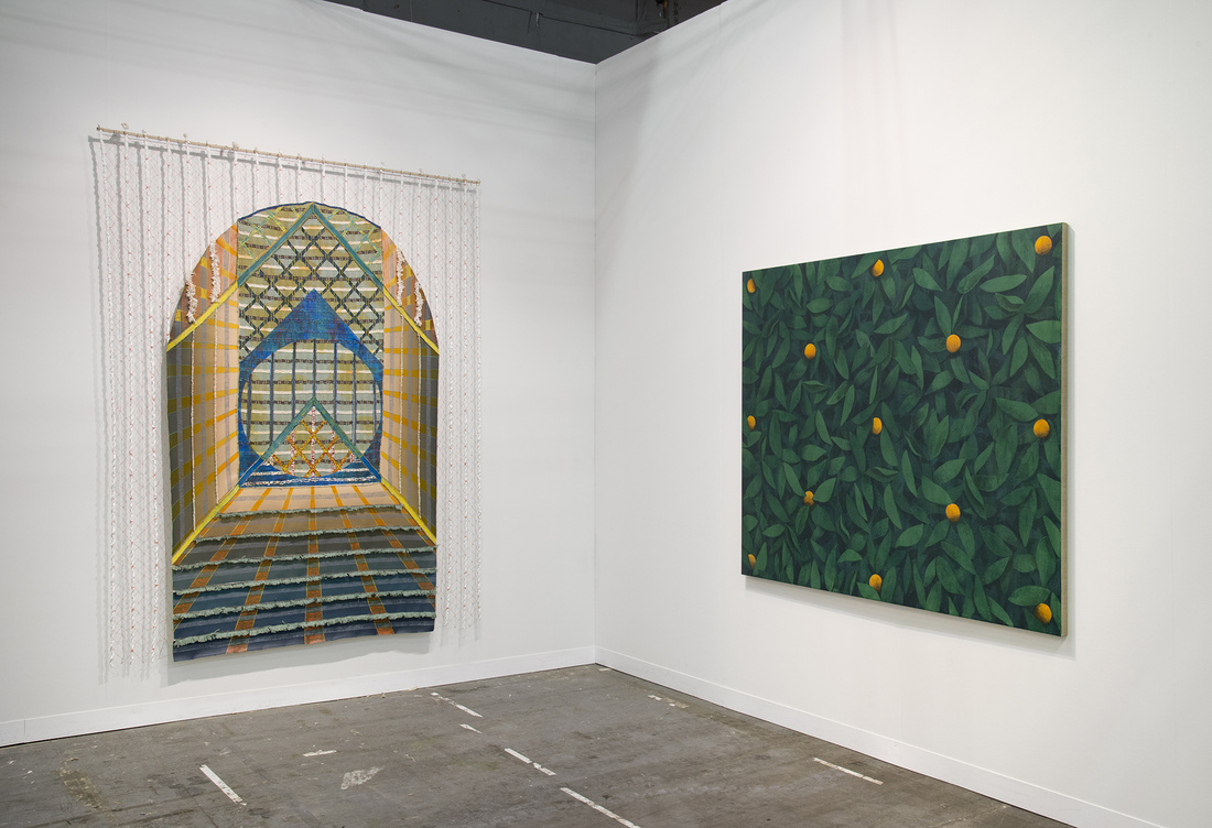Installation view of Ryan Mrozowski's work at On Stellar Rays's booth at The Armory Show, 2016. Photo by Adam Reich for Artsy.