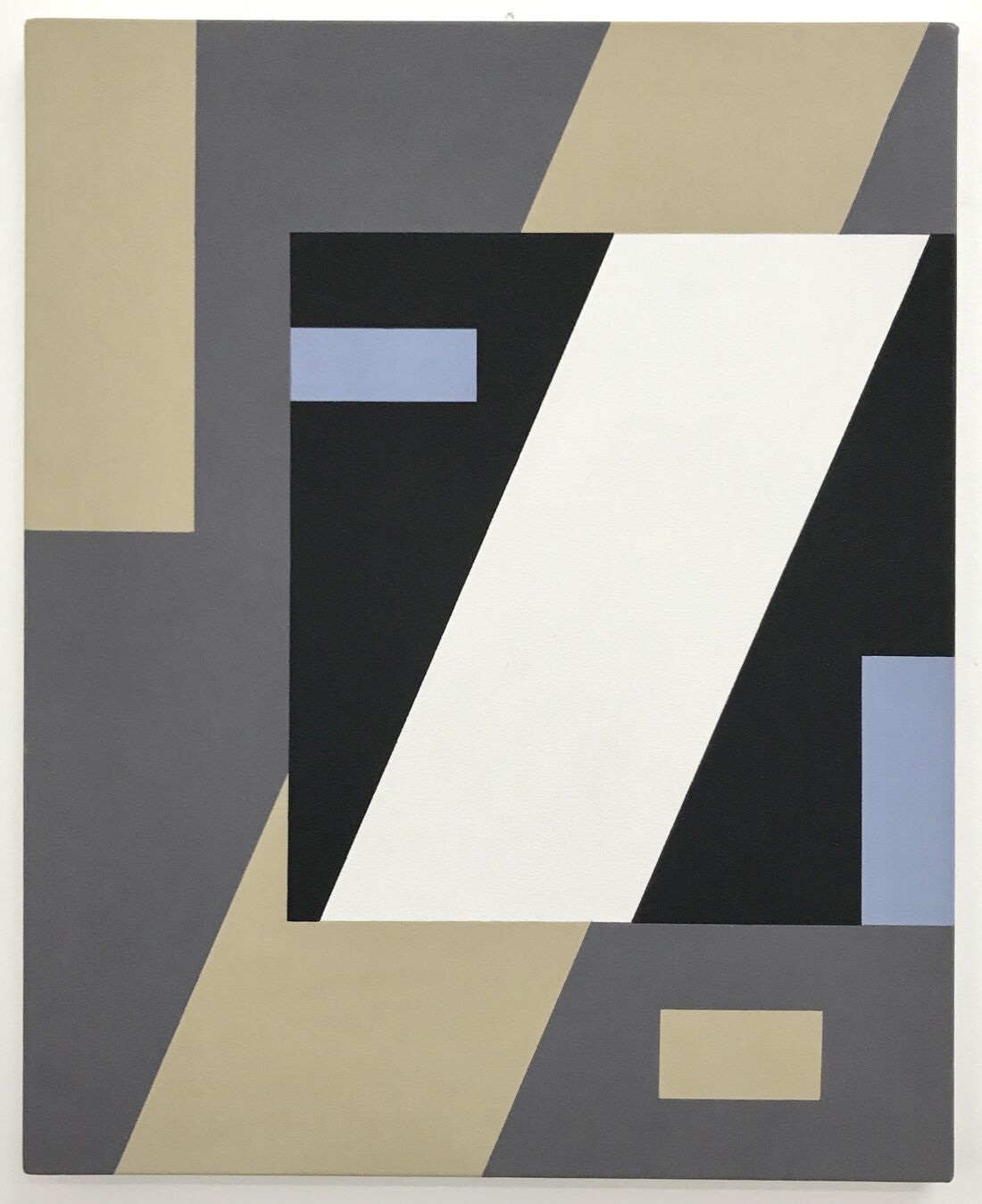 Gordon Walters, Construction with pale blue, 1988, acrylic on canvas, 60 x 49cm, image courtesy of The Walters Estate and STARKWHITE, Auckland.