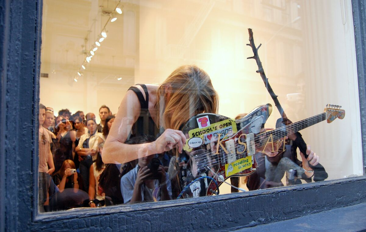 Kim Gordon and Jutta Koether, The Promise of Originality, May 7, 2010 at K.S. Art, 73 Leonard Street, New York. Photo by Andrew Russeth.