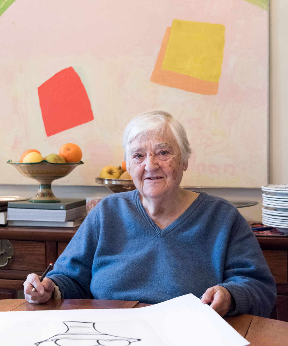 Portrait of Etel Adnan courtesy of the artist.