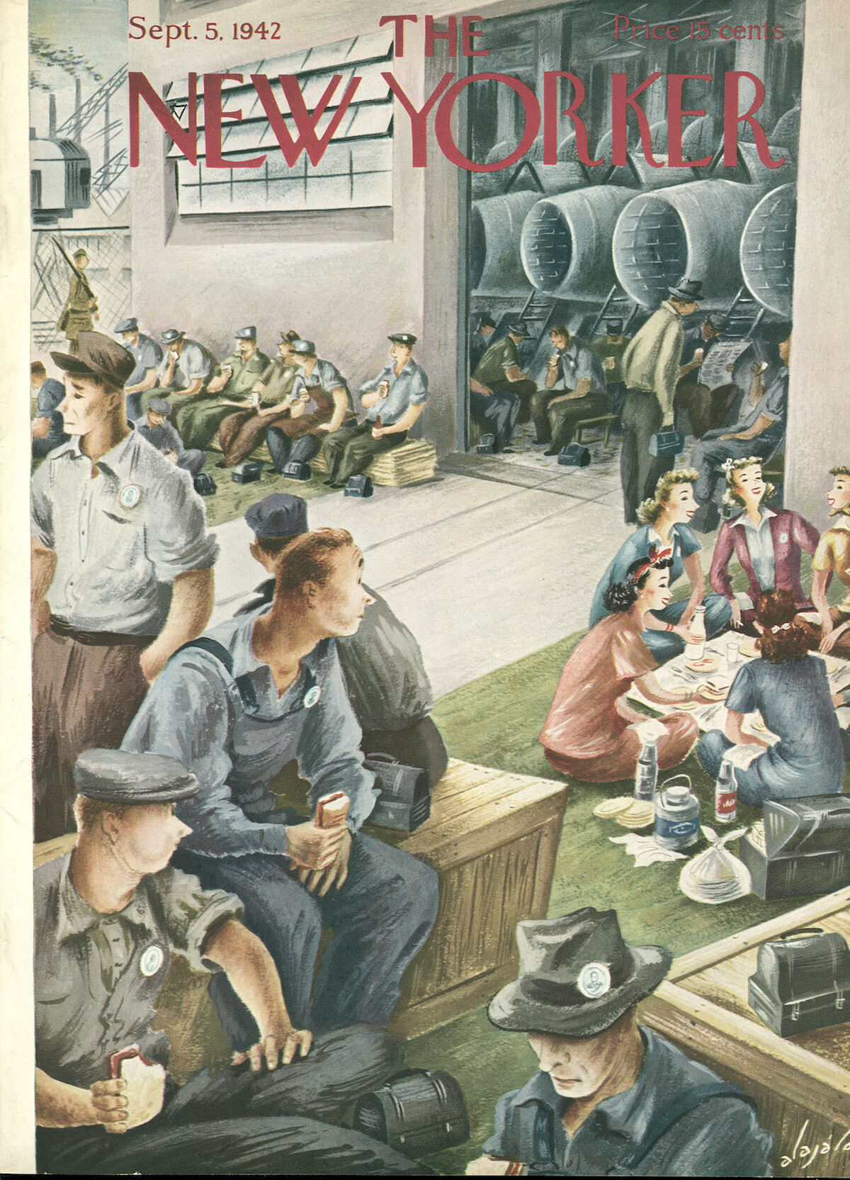 """September 5, 1942,"" by Constantin Aladjalov. Courtesy of The New Yorker. Used with permission."