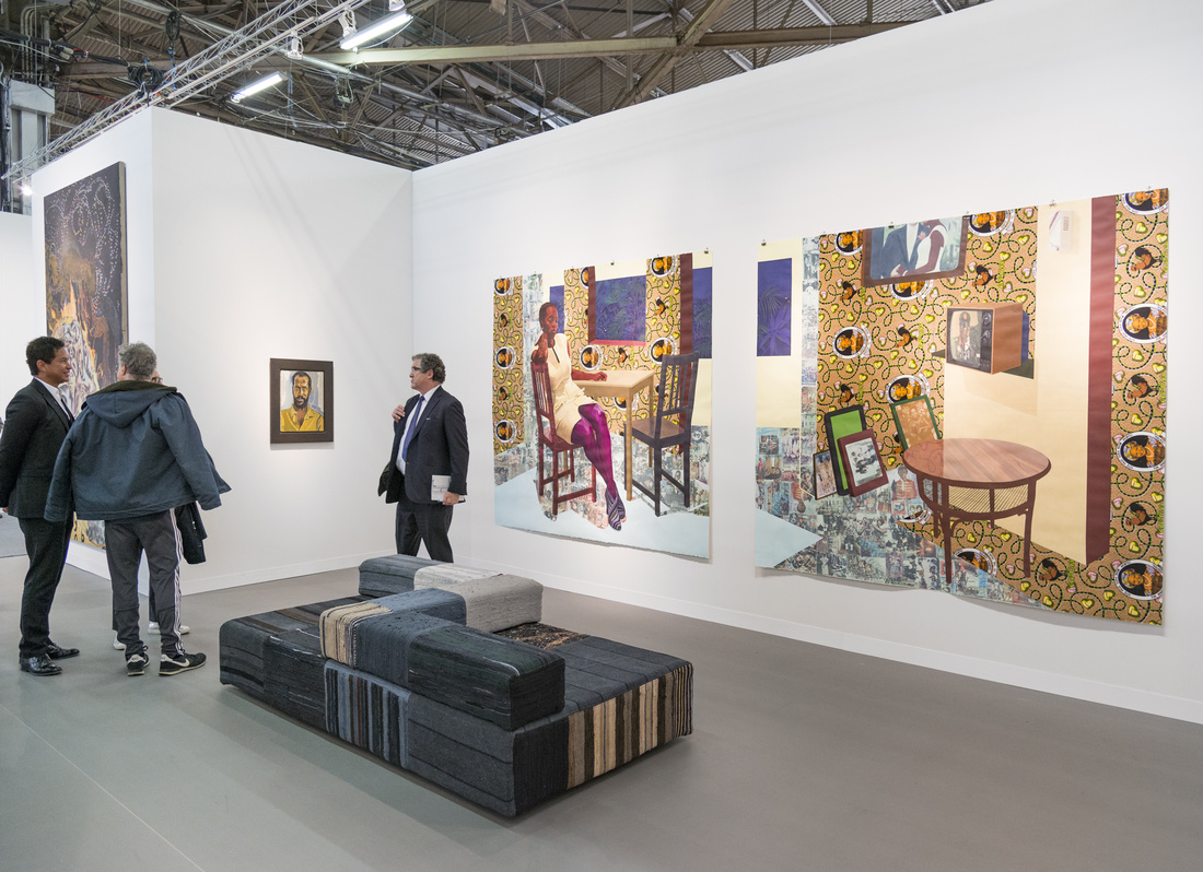 Installation view of Victoria Miro's booth at The Armory Show, 2016. Photo by Adam Reich for Artsy.