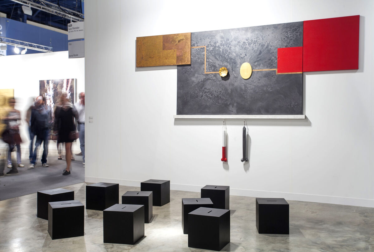 Installation view of Galeria Nara Roesler's booth at Art Basel in Miami Beach, 2015.Photo byOriol Tarridas for Artsy.