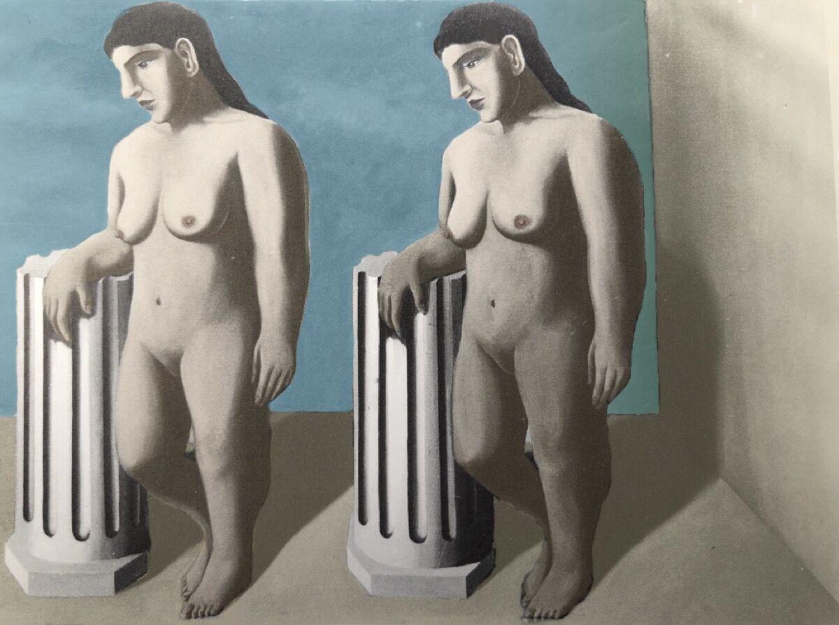 René Magritte, The Enchanted Pose, 1927. © Succession René Magritte. Courtesy of SABAM © ULiège.