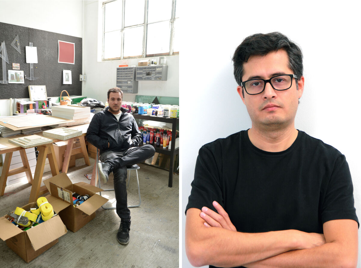 Left: José Dávila; right: Jorge Méndez Blake. Courtesy Galería OMR and the artists