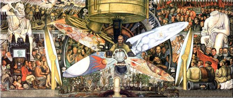 Diego Rivera, El hombre controlador del universo, 1934. Photo via Wikimedia Commons.
