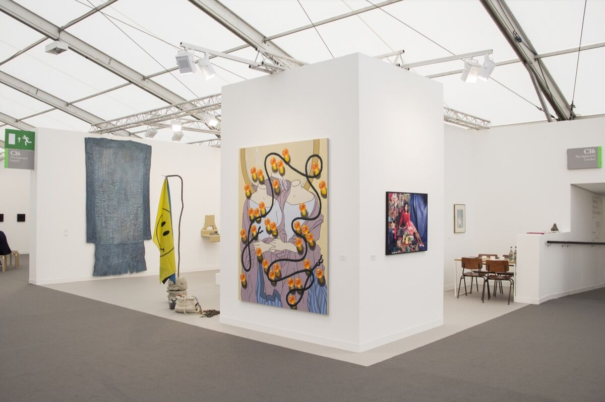 Installation view of The Approach Gallery's booth at Frieze London, 2018. Courtesy of the gallery.