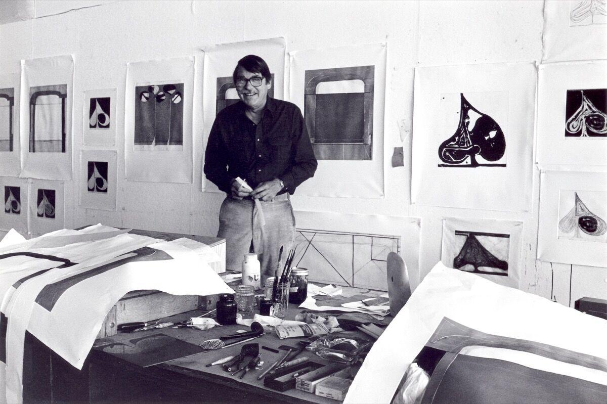 Richard Diebenkorn in the Crown Point Press studio, Oakland, 1982. Photo by Colin C. McRae.