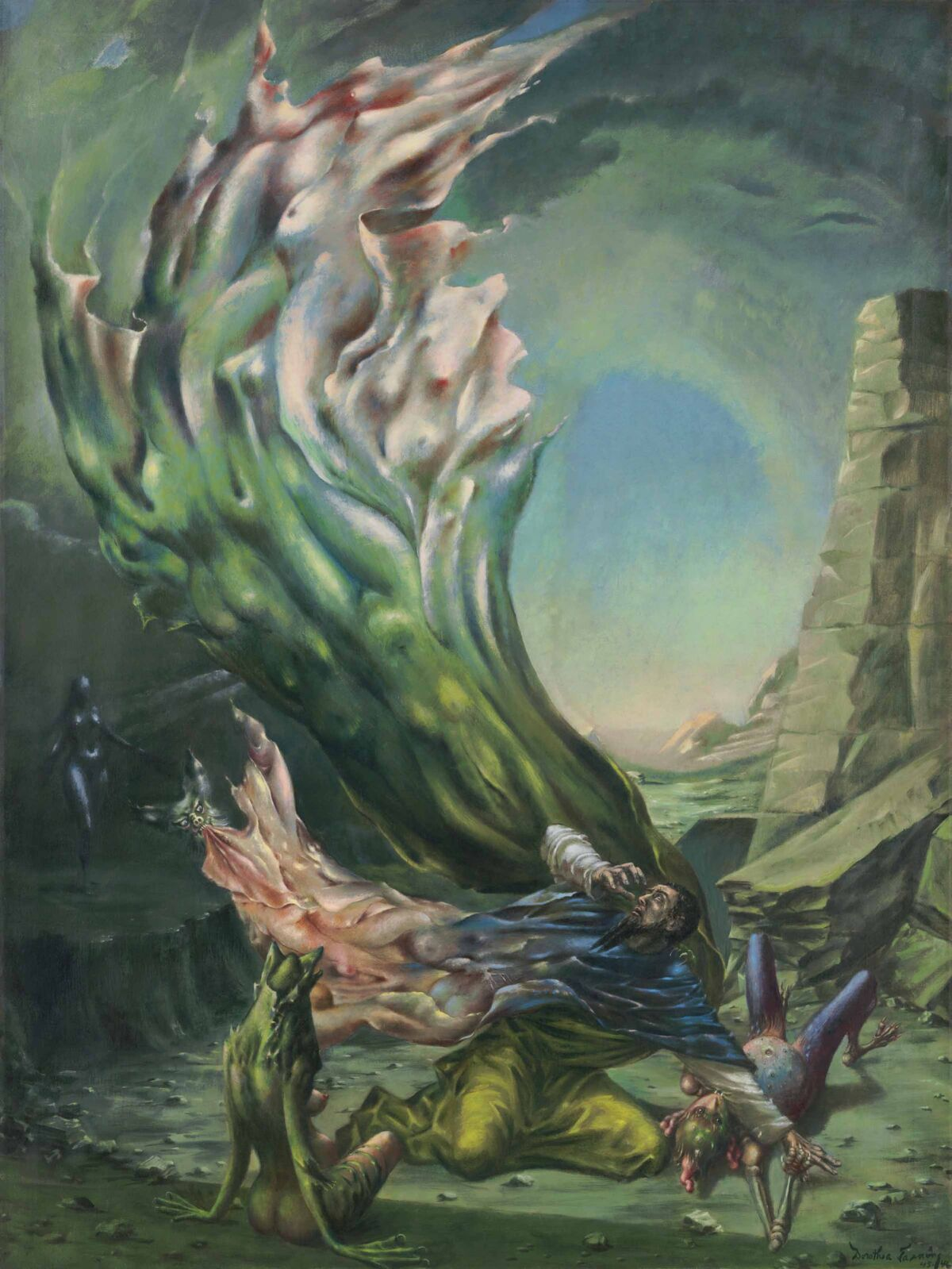 Dorothea Tanning, The Temptation of St. Anthony, 1945-46. Courtesy of Christie's.