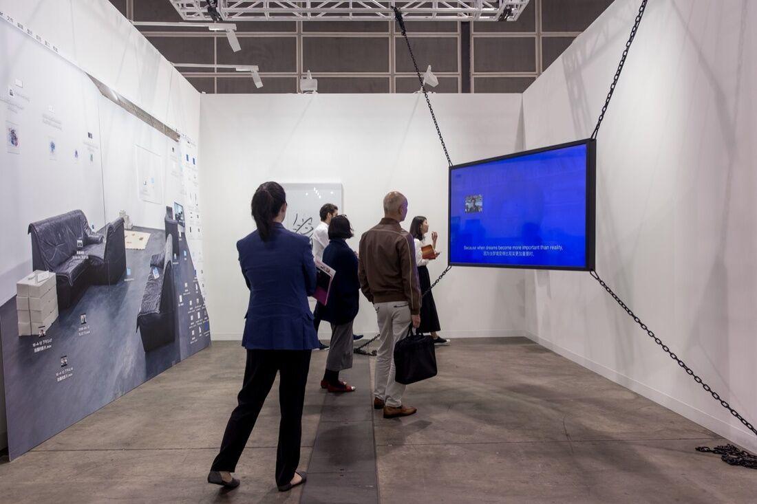 Installation view of Lin Ke's work on view at Bank's booth at Art Basel in Hong Kong, 2017. Courtesy of Art Basel.