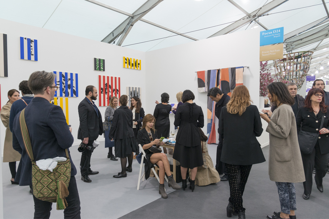 Installation view of Instituto de Visión's booth at Frieze New York, 2016. Photo by Adam Reich for Artsy.