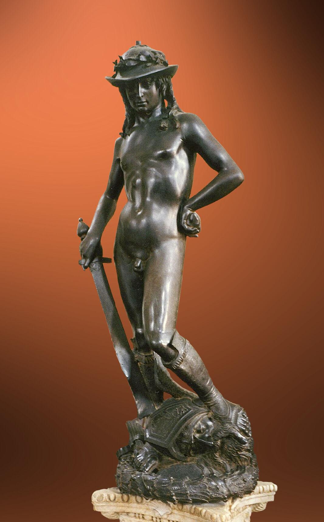 Donatello, David, 1428–1432. Photo via Wikimedia Commons.