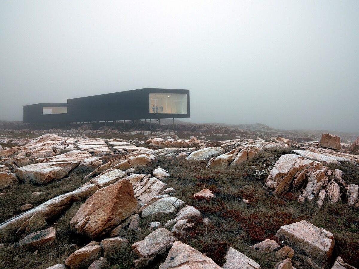 Fogo Island Arts' Long Studio in Joe Batt's Arm, Fogo Island, Newfoundland,Canada, 2011. Photo by Bent René Synnevåg. Courtesy of Fogo Island Arts.