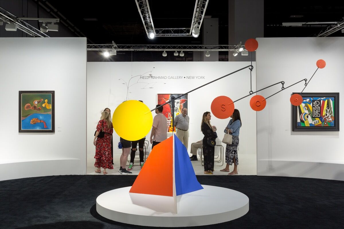 Installation view of Helly Nahmad Gallery's booth at Art Basel in Miami Beach, 2017. Photo by Alain Almiñana for Artsy.