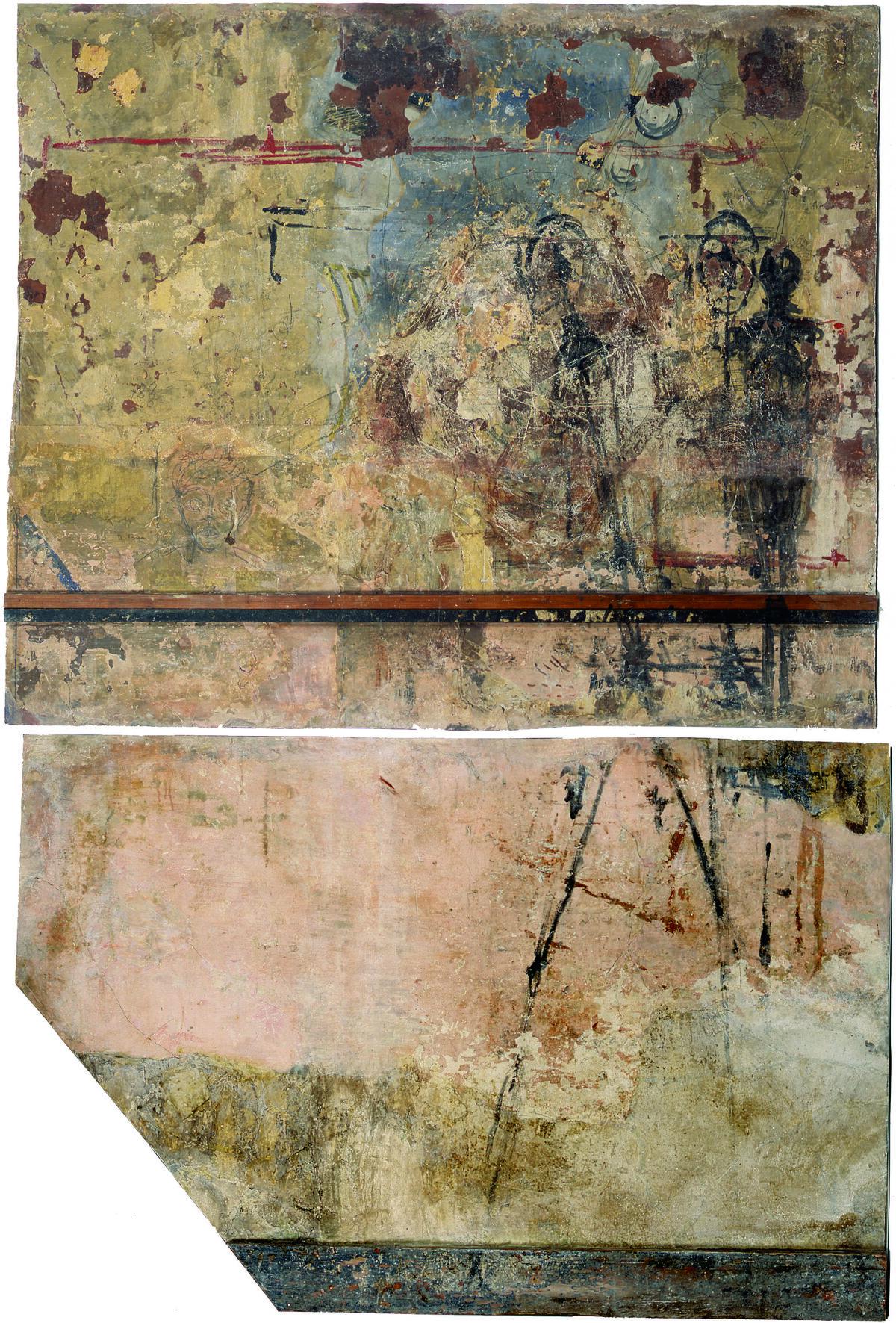Walls of Giacometti's studio, 1966. © Succession Giacometti (Fondation Giacometti + ADAGP) Paris 2018. Courtesy of Fondation Giacometti, Paris.