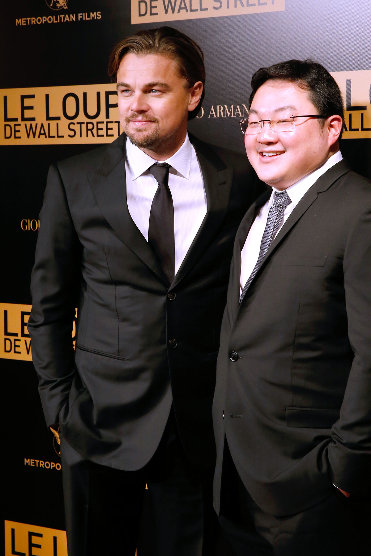 Leonardo DiCaprio with Jho Low at The Wolf of Wall Street premiere in Paris, 2013. Photo by Bertrand Rindoff Petroff/Getty Images.