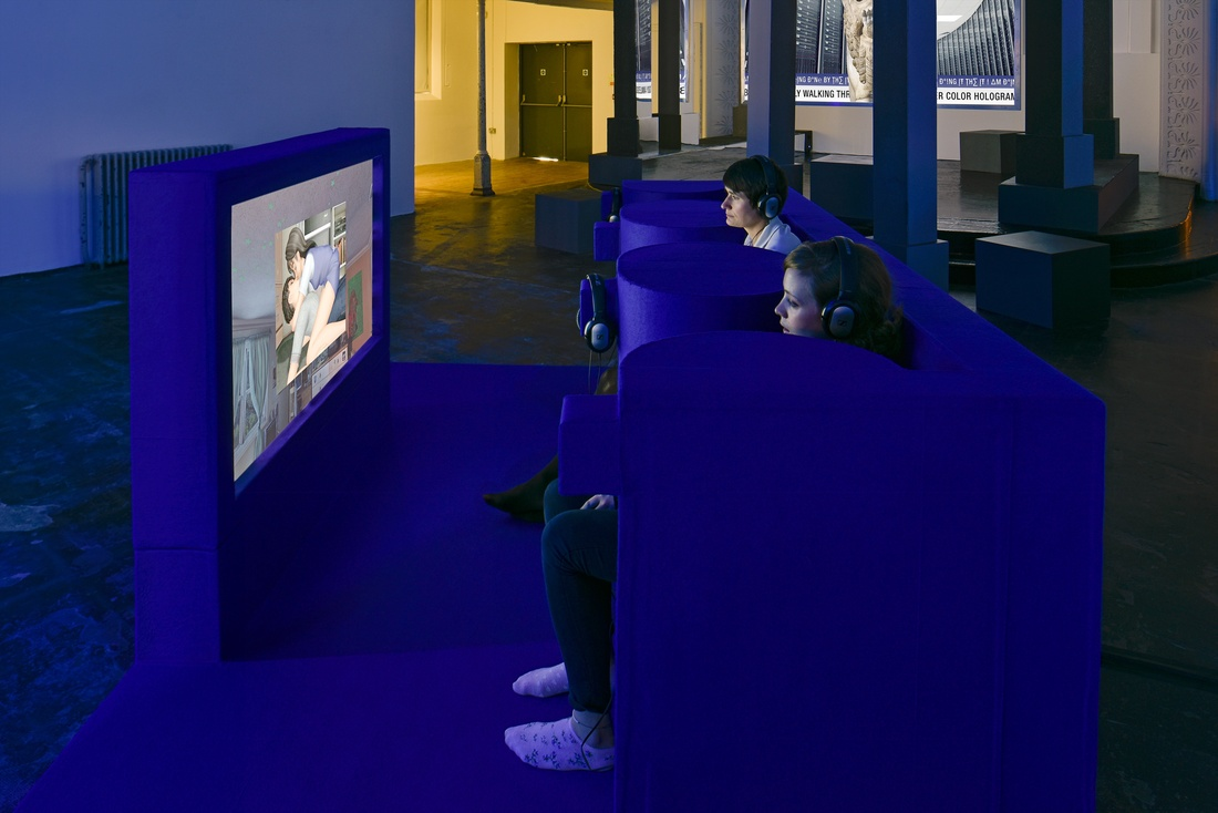 Installation view Jon Rafman, 2015 at Zabludowicz Collection, London. Photo byThierry Bal.