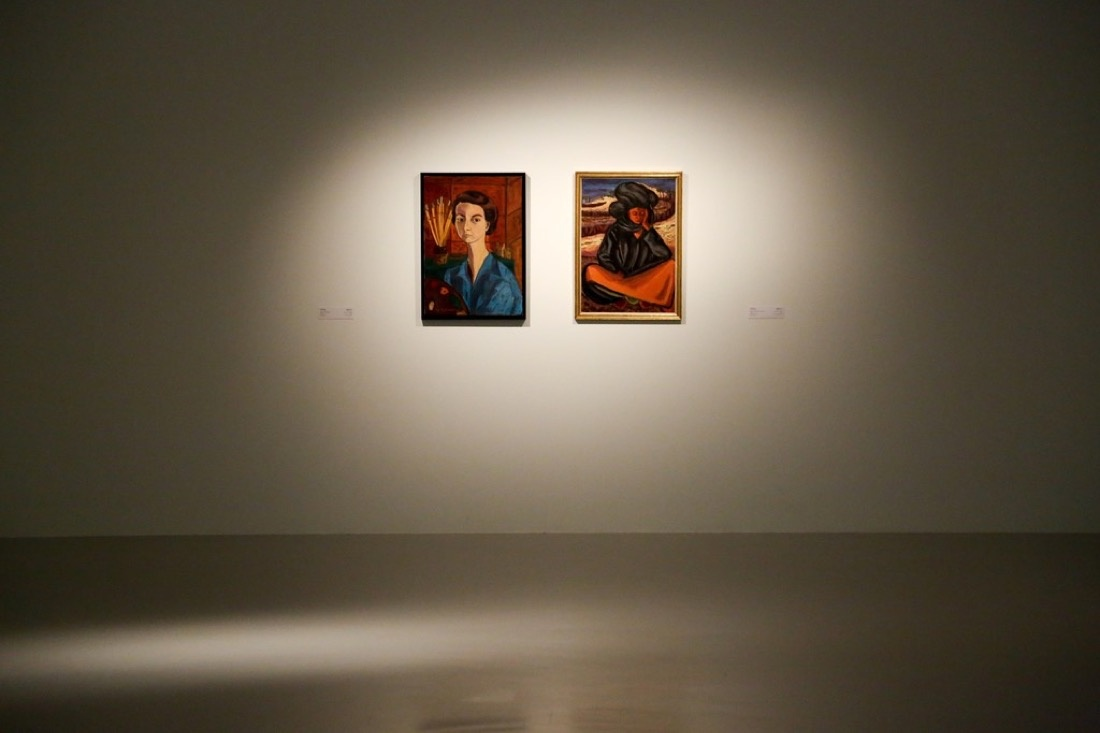 """Installation view of """"Focus: Works from the Mathaf Collection"""" at Mathaf: Arab Museum of Contemporary Art, Qatar (2015-2016). Courtesy of the museum."""