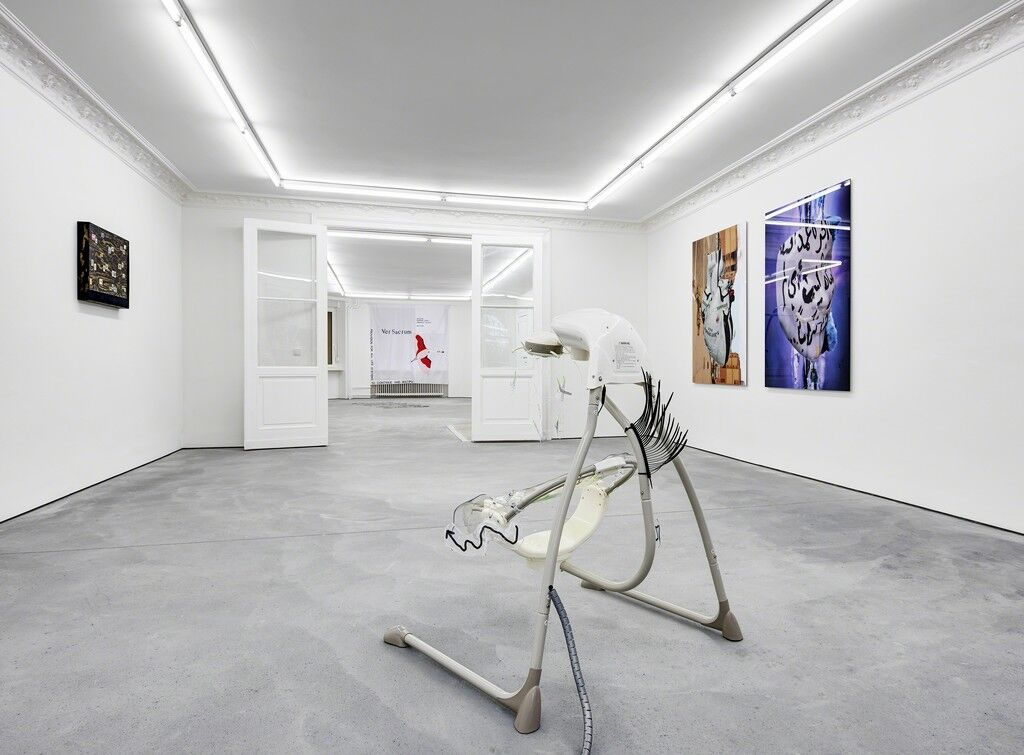 "Installation view of ""Grand New"" at Future Gallery, Berlin. Image courtesy of Future Gallery, Berlin."