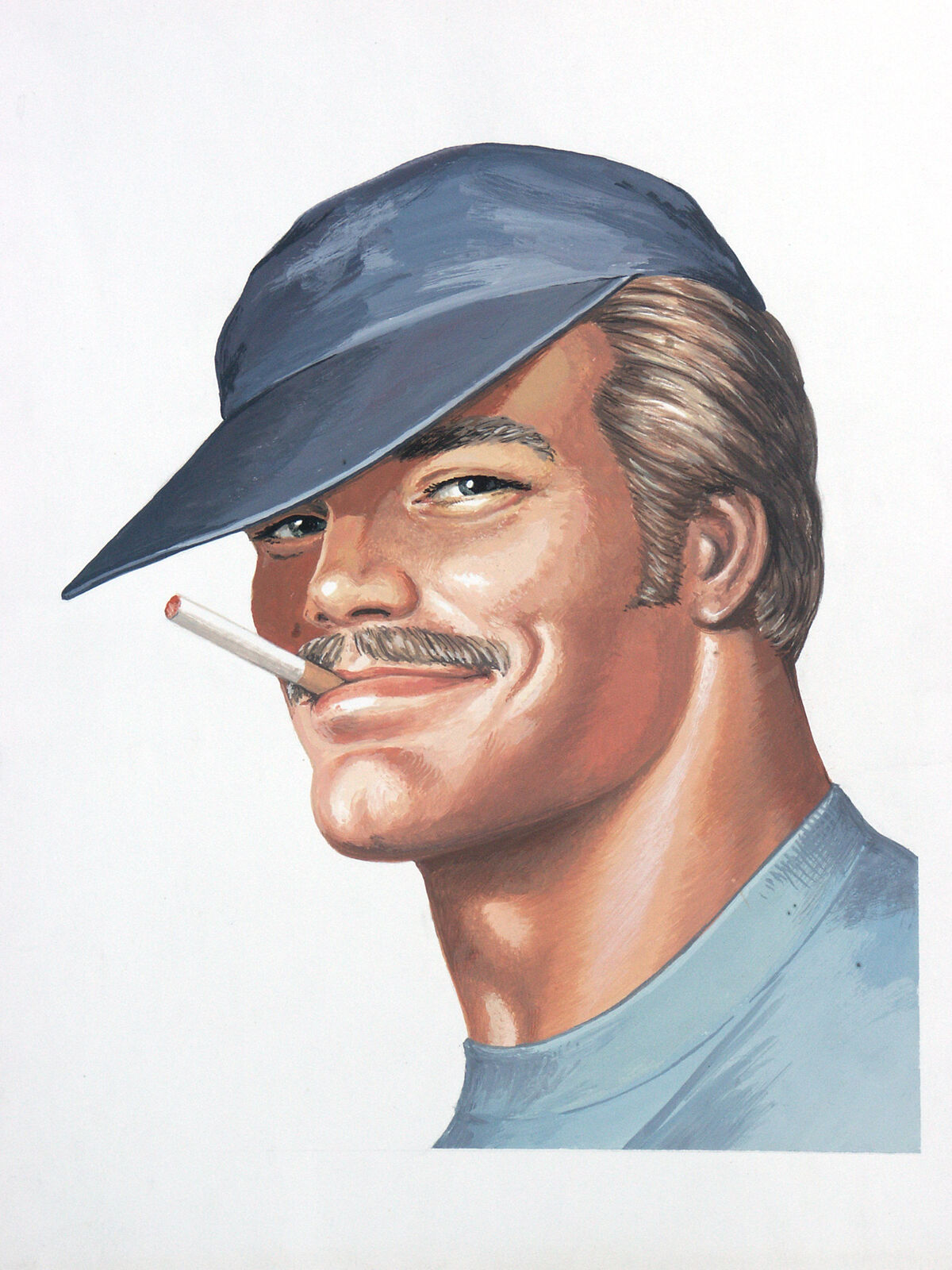 Tom of Finland, Untitled (Portrait of Pekka), 1975. Courtesy of the Tom of Finland Foundation and David Kordansky Gallery, Los Angeles, CA.