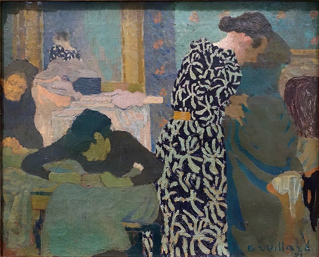 Edouard Vuillard, The Flowered Dress, 1891. Image via Wikimedia Commons.