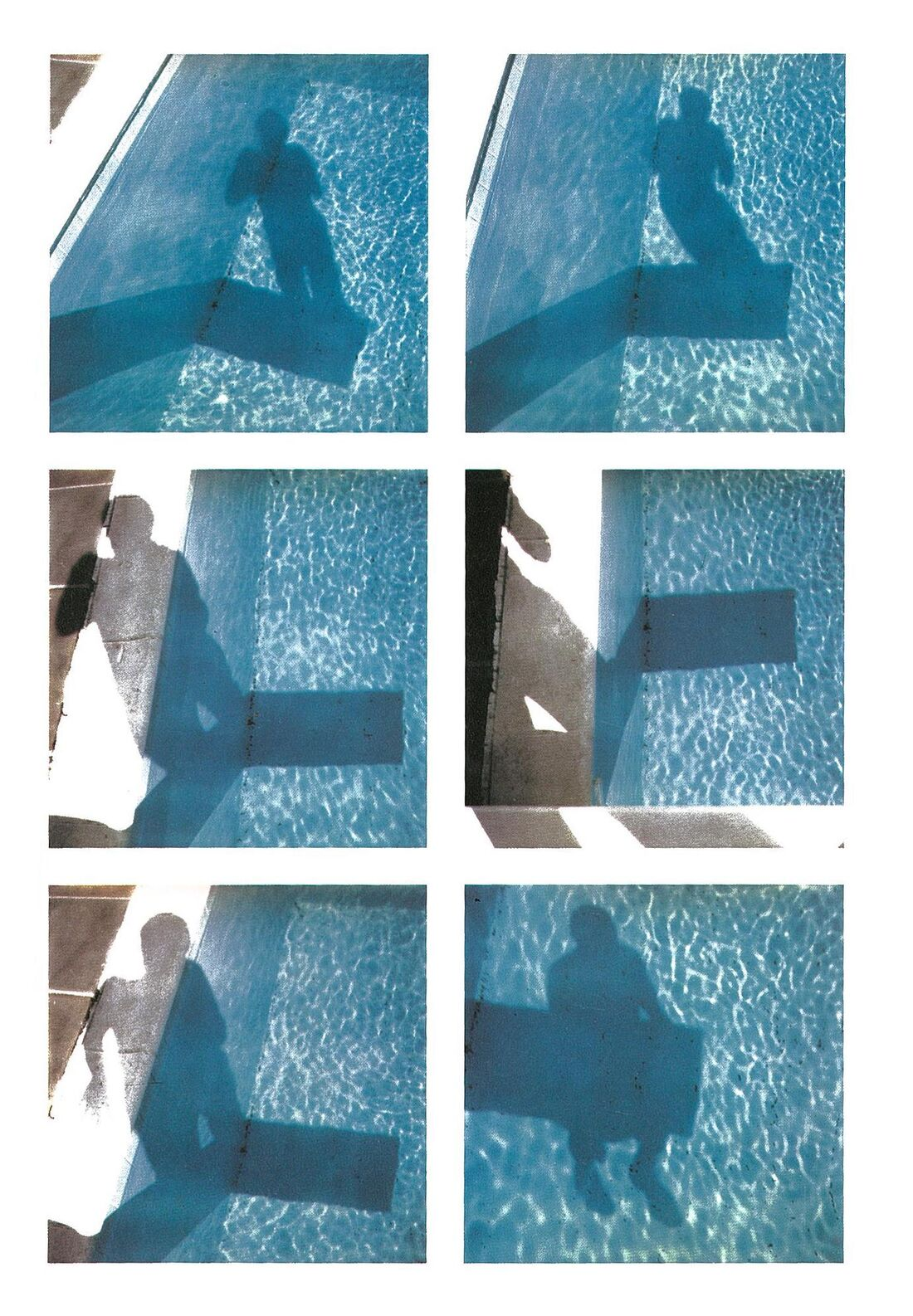 David Hockney Polaroid photographs depicting shadows in a pool from the special edition Paper Pools book, which accompanies the print