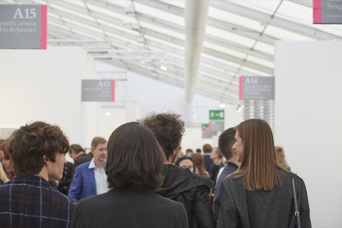 Frieze London, 2016. Photo by Benjamin Westoby for Artsy.