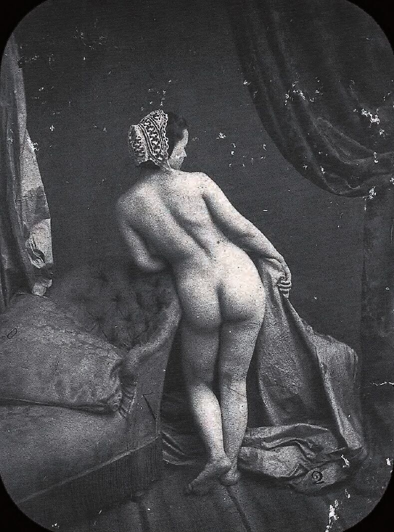 Auguste Belloc, Erotische Fotografie, ca.  1850. Imagen a través de Wikimedia Commons.