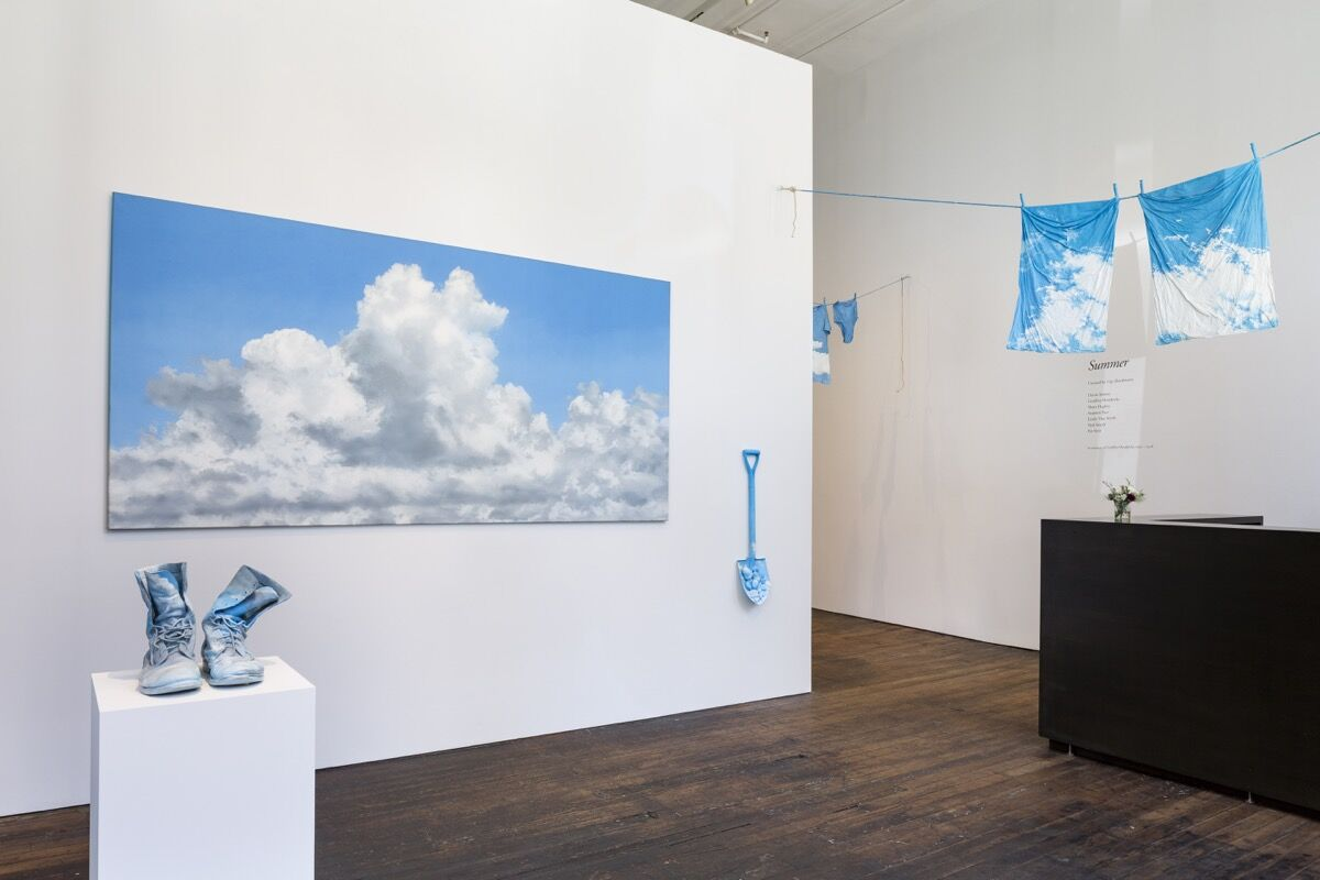 """Installation view of work by Geoffrey Hendricks for """"Summer"""" at Peter Freeman, Inc., New York, 2018. Courtesy of the artist, Peter Freeman, Inc. and Nicholas Knight."""