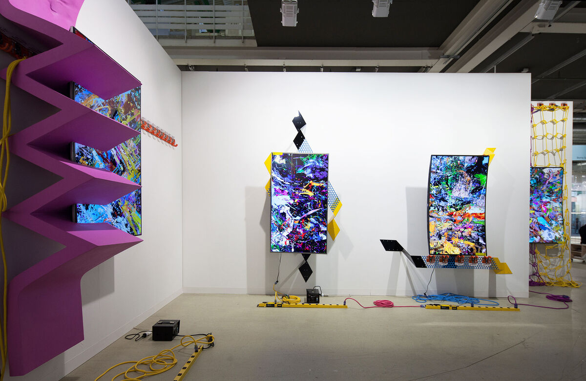 JTT at Art Basel 2015. Photo by Alec Bastian for Artsy.