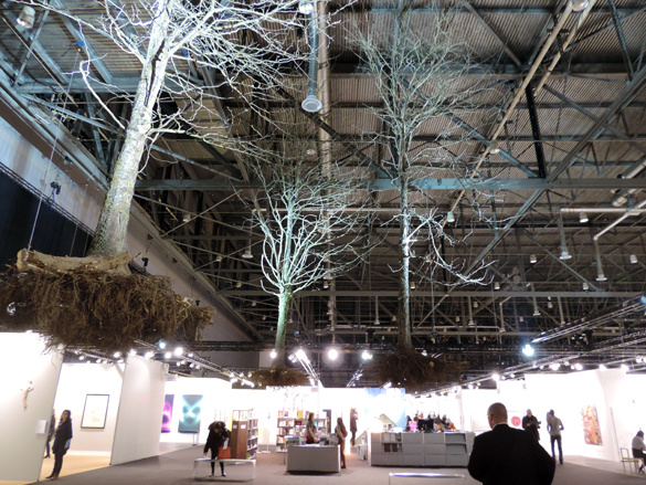 Henrik Hakansson, Three Hanging trees at artgenève 2014; photo (c) Annik Wetter