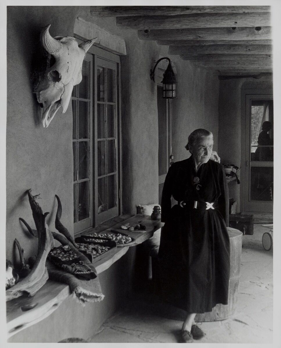 Todd Webb, Georgia O'Keeffe on Ghost Ranch Portal, New Mexico, ca 1960s. © Estate of Todd Webb, Portland, ME.