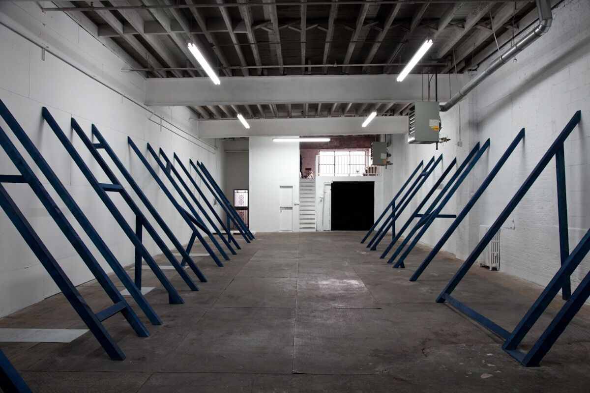 Installation view of Bennet Schlesinger, Atlas, 2012. Courtesy of Signal.