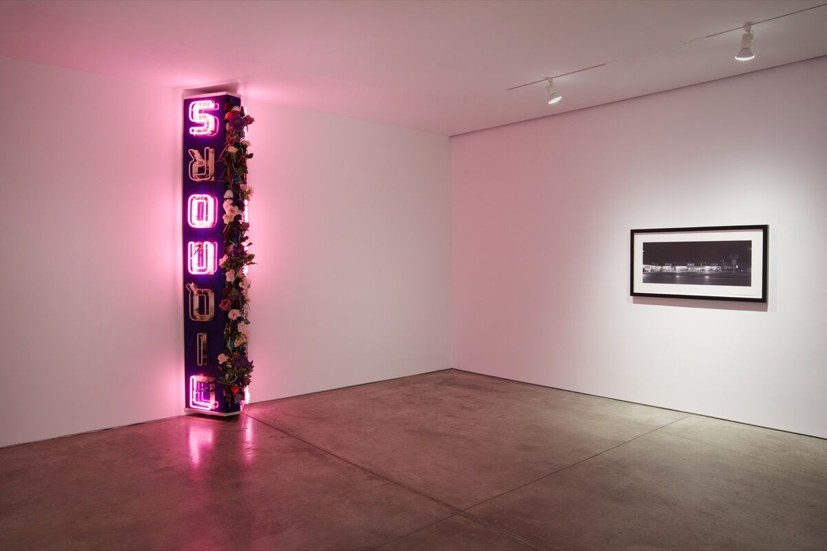 """Installation view of """"American Landscapes"""" at Lehmann Maupin, New York, 2018. Courtesy of Lehmann Maupin."""