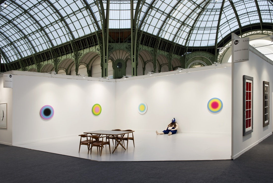 Installation view of Gladstone Gallery's booth at FIAC, 2015, with works by Ugo Rondinone. Courtesy of Gladstone Gallery, New York and Brussels. Photo: Marc Domage FIAC.