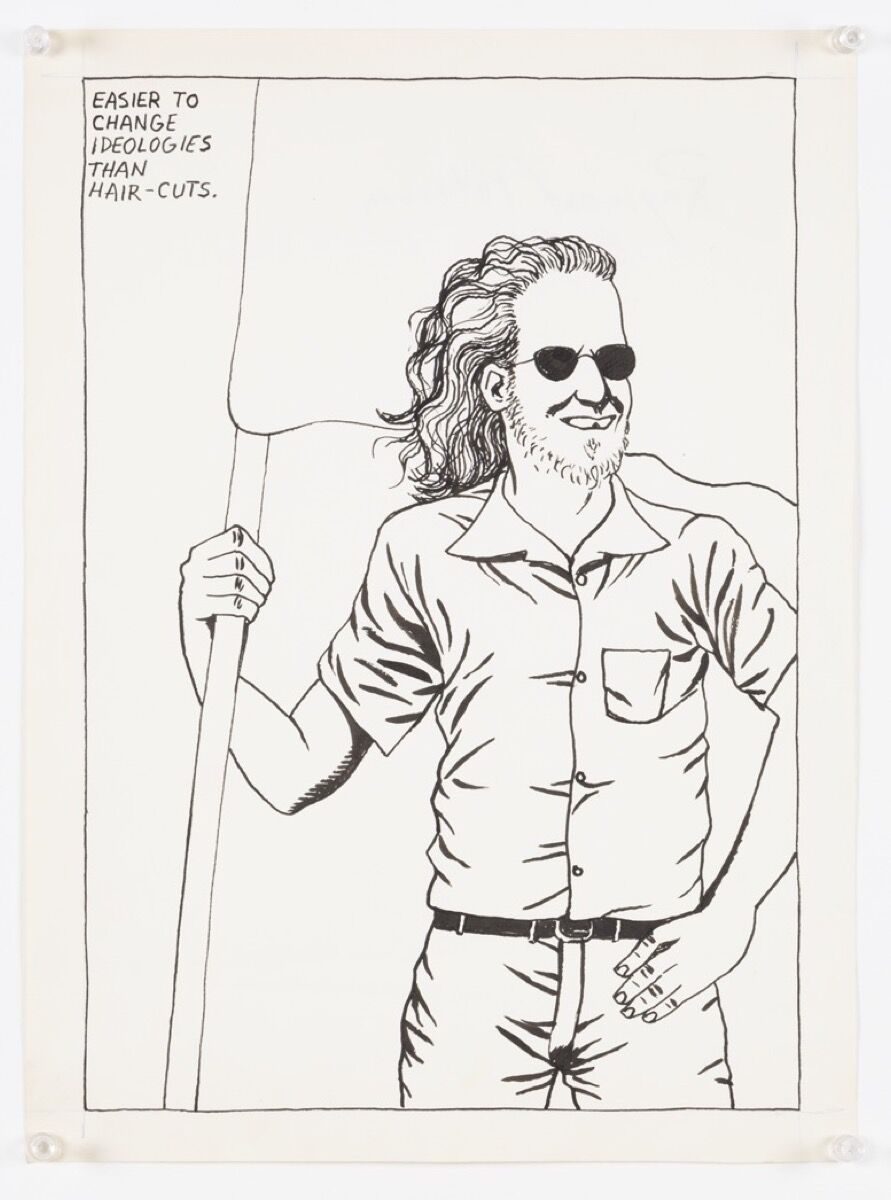 Raymond Pettibon, No Title (Easier to change...), 1984. Courtesy David Zwirner, New York.