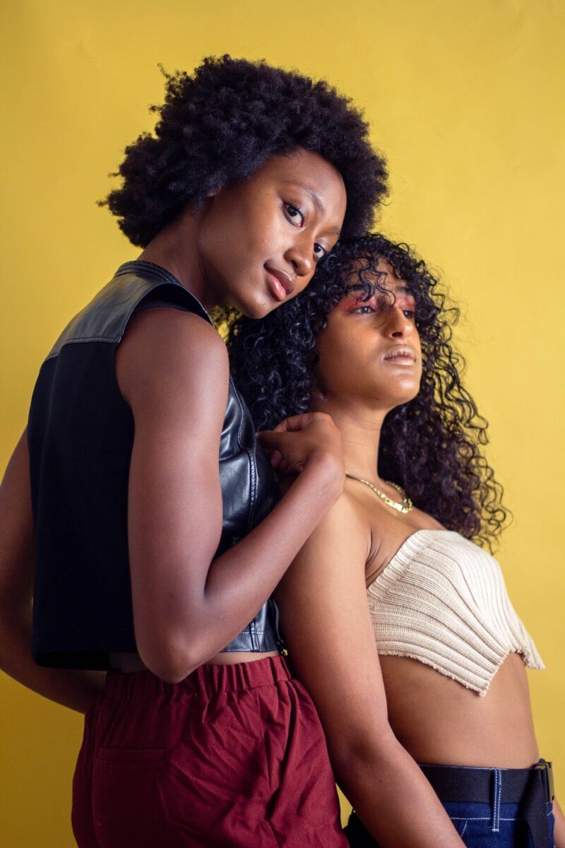Danielle Murray and Kaya Bandele. Photo by Micah Pegues. Courtesy of Polychrome Mag.